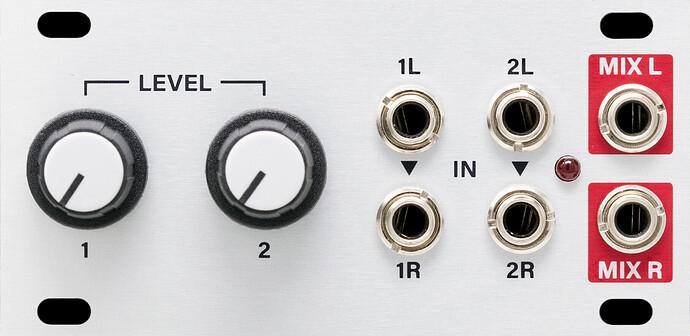 Stereo Mixer 1U